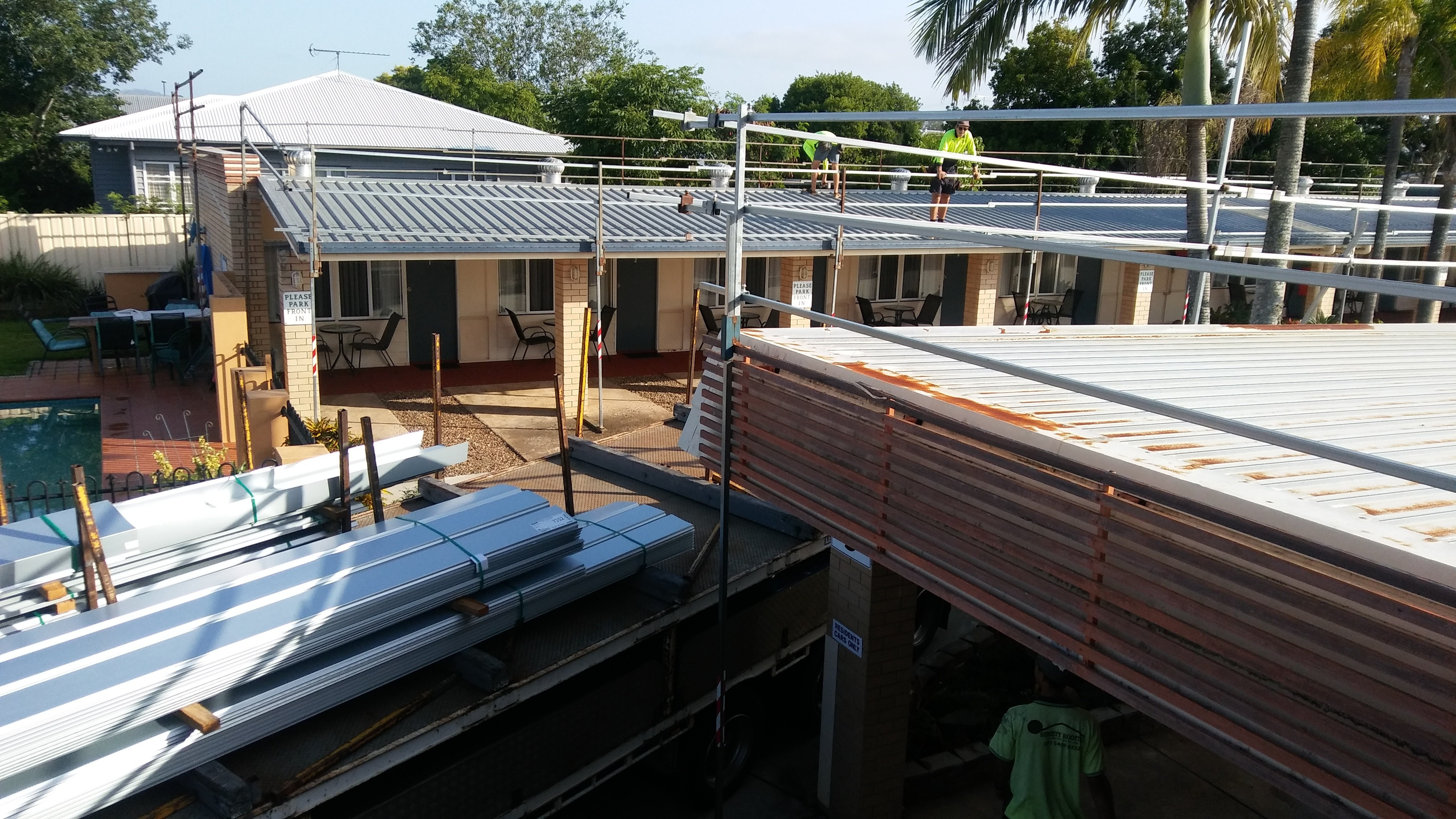 roof renovations at shady rest motel